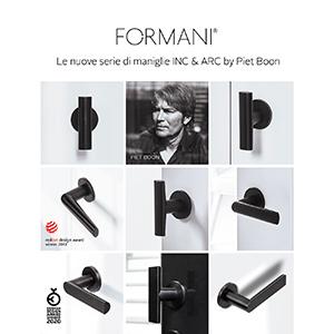 Nuove serie di maniglie Formani by Piet Boon: scopri INC e ARC