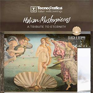 La carta da parati dedicata al Rinascimento Italiano by Tecnografica