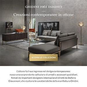 L'ottone nel design contemporaneo: arredi e accessori Ghidini1961