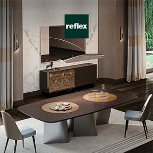Reflex per un living contemporaneo ed essenziale