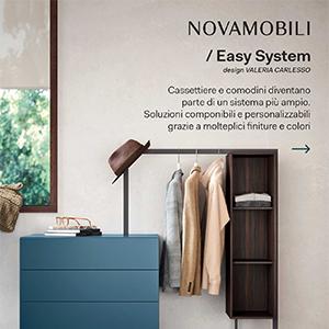 Sistema d'arredo componibile Novamobili: estetica essenziale e versatilità