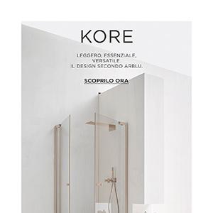 Box doccia personalizzabile in vetro-alluminio KORE by Arblu
