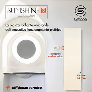 Termoarredo elettrico ultrasottile Sunshine Energy by Scirocco H