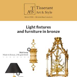 Tisserant: arredi e illuminazione in bronzo e ferro battuto dallo stile classico