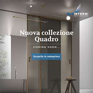 Porte in vetro e alluminio collezione Quadro Bluinterni: nuovo profilo e nuove finiture