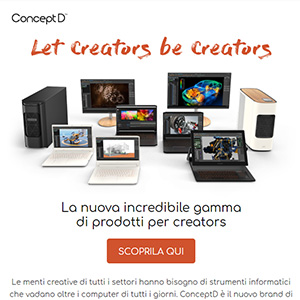 ConceptD: PC, notebook e monitor dedicati ai creativi