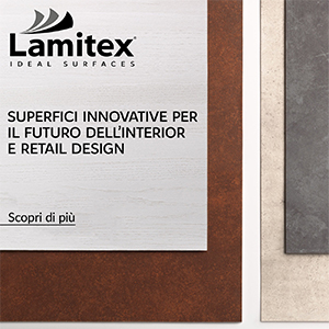 Superfici decorative Lamitex per interior e retail design