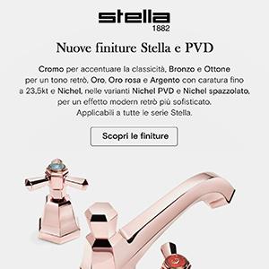 Rubinetterie Stella, nuove finiture per tutte le serie: scoprile