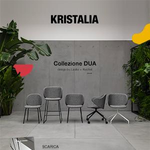 DUA by Kristalia: sedie e poltroncine dalle linee morbide e accoglienti