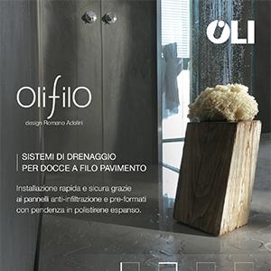 OLIFILO, sistema di drenaggio doccia a filo pavimento by OLI