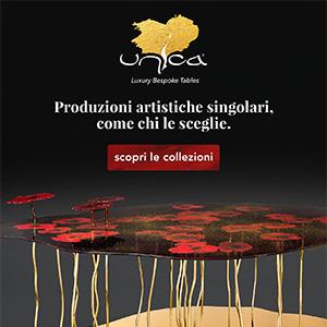 Arredi artigianali made in Italy in vetro, metallo, legno e pietre preziose