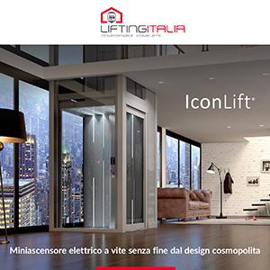 Il miniascensore elettrico di lusso Made in Italy dal design cosmopolita: IconLift