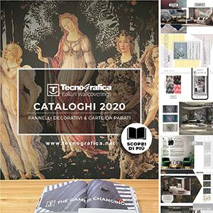 Carte da parati e pannelli decorativi Tecnografica: nuovi cataloghi 2020