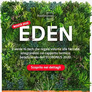 [Novità Roofingreen 2020] EDEN: il verde hi-tech per facciate creative