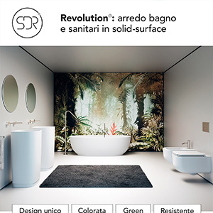 Sanitari e arredobagno in solid surface Revolution by SDR Ceramiche