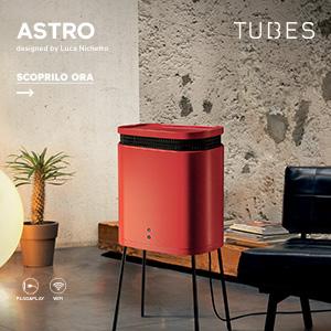 Astro by Tubes: termoventilatore, purificatore d'aria e complemento d'arredo