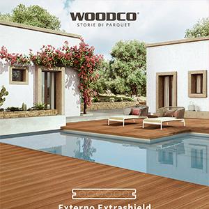 Il pavimento outdoor resistente a macchie, muffe, raggi UV: Woodco Externo Extrashield