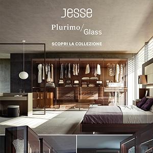 Jesse, l'armadio Plurimo in vetro trasparente