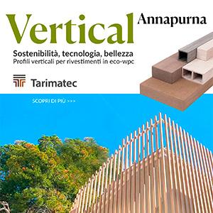Profili verticali per rivestimenti in eco-WPC: Tarimatec