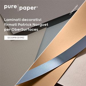 Laminati decorativi Pure Paper effetto carta e vero alluminio