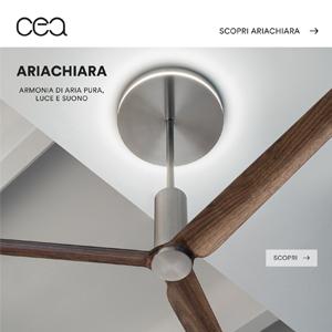 Ventilatore a soffitto Ariachiara CEA: sanificazione, ionizzazione, luce e musica