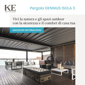Pergola in alluminio Gennius Isola 3 di KE Outdoor Design: comfort e sicurezza
