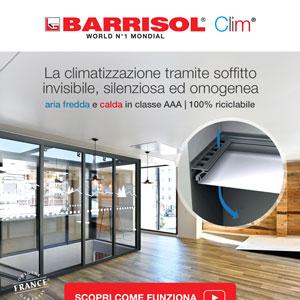 Climatizzazione invisibile a soffitto Barrisol Clim