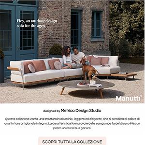 Manutti Flex: outdoor sofa in legno e alluminio
