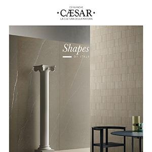 Shapes of Italy, lastre ceramiche ispirate a 7 pietre naturali by Ceramiche Caesar