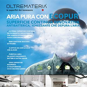 Ecopur, superfici continue antibatteriche e ionizzanti by Oltremateria