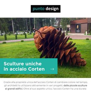 Sculture in Corten per l'arredo giardino by Punto design