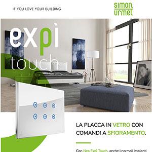Placche di comando Touch Nea Expì by Simon Urmet
