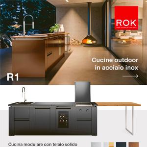 Cucine outdoor Rok in acciaio inox