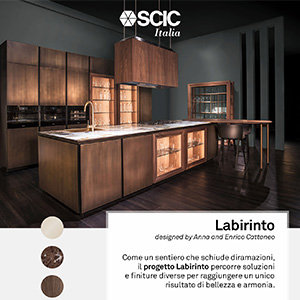 Cucina Labirinto e sedute Pashà by SCIC