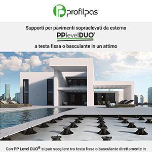 Supporti Profilpas per pavimenti sopraelevati da esterno