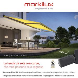 Tenda da sole Markilux MX-3: pura questione di forme