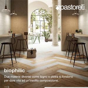 Gres effetto legno e pietra in-outdoor: Biophilic by Pastorelli
