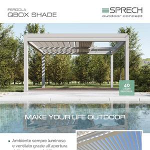Pergole bioclimatiche con tetto orientabile: QBox Shade