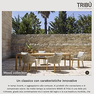 Nuove sedute outdoor Tribù Mood: un classico con caratteristiche innovative