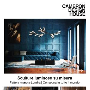 Sculture luminose fatte a mano su misura Cameron Design House