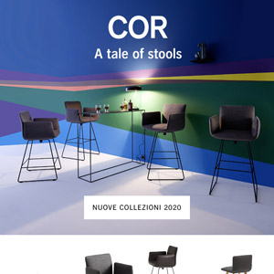 COR nuove collezioni 2020: sgabelli da bar, panche molto altro!