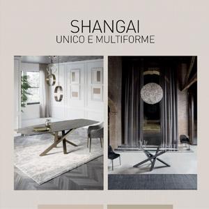 Tavolo Shangai, unico e multiforme by Riflessi