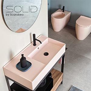 L'arredo bagno Scarabeo modulare e personalizzabile: Solid collection