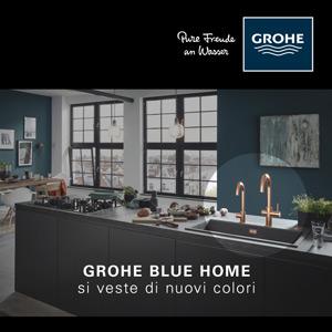 Il sistema di filtrazione dell'acqua GROHE veste la cucina di nuovi colori