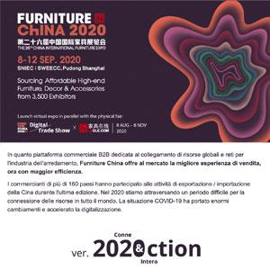 Furniture China 2020, Connessione & Interazione: 8-12 settembre, Shanghai