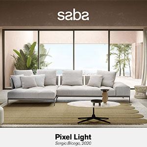 Saba presenta Pixel Light, il divano modulare per indoor e outdoor