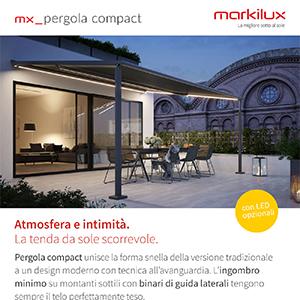 Markilux pergola compact: tenda da sole bella e funzionale ovunque