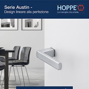 Nuova maniglia Hoppe serie Austin: linearità senza compromessi