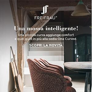 Freifrau, sedia Ona Curved: una piccola curva per un maggiore comfort