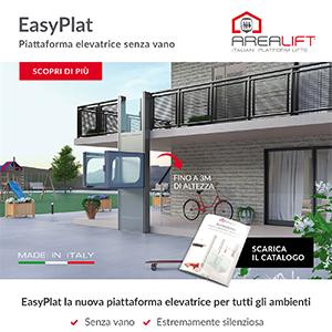 EasyPlat Arealift: piattaforma elevatrice senza vano per piccoli e grandi dislivelli